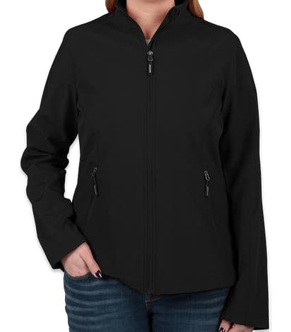 Core 365 Women's Fleece Lined Soft Shell Jacket - Black