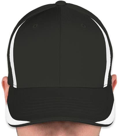 Yupoong Flexfit Colorblock Performance Hat - Black / White