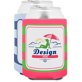 Stripe Foldable Can Cooler