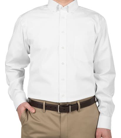 Devon & Jones Solid Dress Shirt - White
