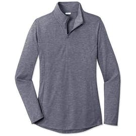 Sport-Tek Women's Tri-Blend Quarter Zip Performance Shirt