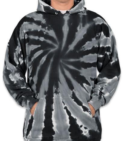 Port & Company Tie-Dye Pullover Hoodie - Black