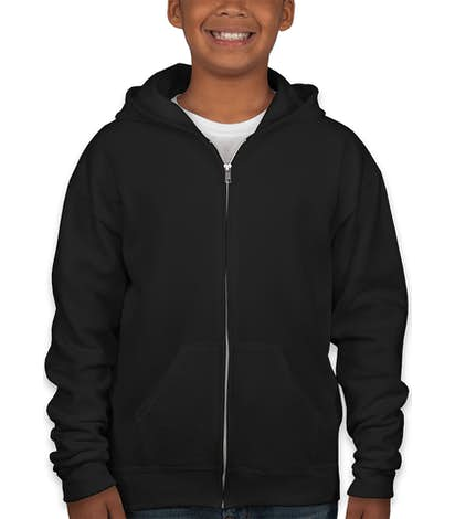 Jerzees Youth Nublend® 50/50 Zip Hoodie - Black