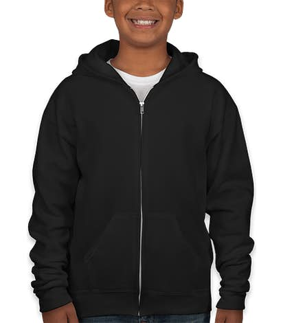 Jerzees Youth Nublend® 50/50 Zip Hoodie - Black