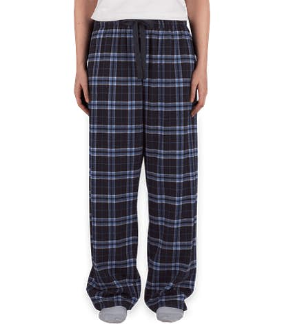 Boxercraft Women's Flannel Pajama Pants - Navy / Columbia Blue