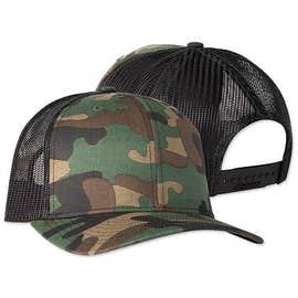 Richardson Patterned Snapback Trucker Hat