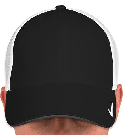Nike Golf Stretch Fit Mesh Hat - Black / White