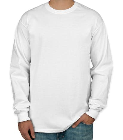 Canada - Gildan Ultra Cotton Long Sleeve T-shirt - White