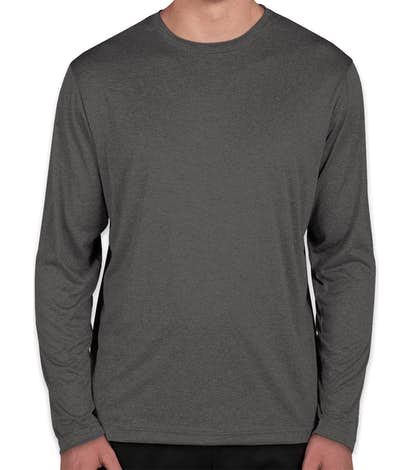 Sport-Tek Long Sleeve Heather Performance Shirt - Graphite Heather