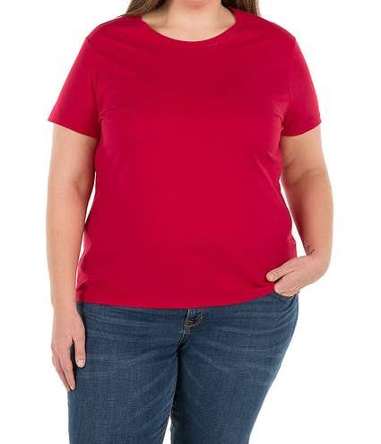2d8bd485b840e Design Custom Printed Hanes Ladies Just My Size Plus T-shirts Online ...