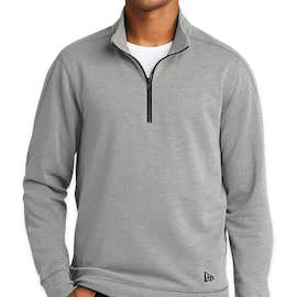 New Era Tri-Blend Quarter Zip Pullover - Color: Shadow Grey Heather