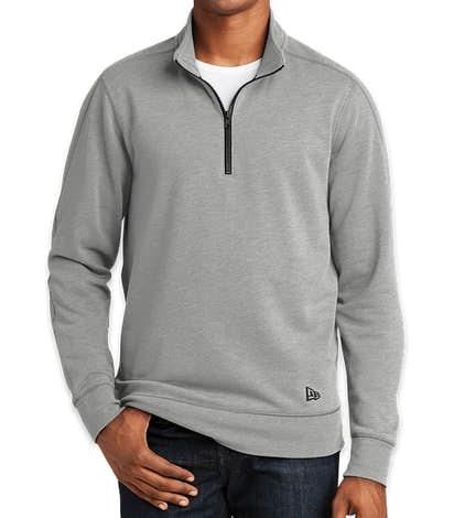 New Era Tri-Blend Quarter Zip Pullover - Shadow Grey Heather