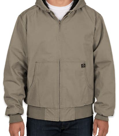 Dri Duck Cheyenne Hooded Boulder Cloth™ Work Jacket - Gravel