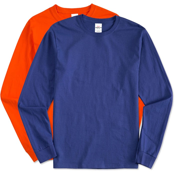 c55bf8493bb482 Custom Hanes Long Sleeve Tagless T-shirt - Design Long Sleeve T ...