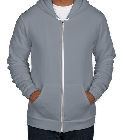 American Apparel Flex Fleece Zip Hoodie - Slate