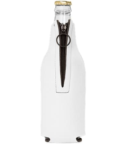 Foldable Foam Zipper Bottle Cooler - White