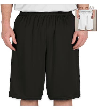 High Five Competition Reversible Basketball Shorts - Black / White