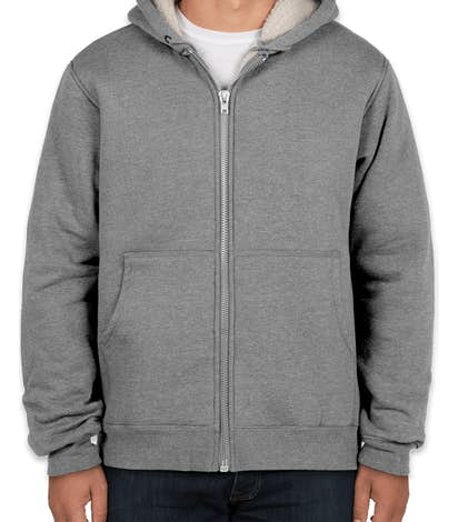CornerStone DWR Heavyweight Sherpa-Lined Hooded Work Jacket - Grey