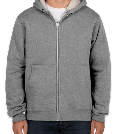 CornerStone DWR Heavyweight Sherpa-Lined Hooded Work Jacket - Grey