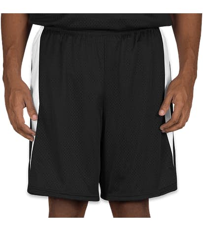 Augusta Top Score Lacrosse Short - Black / White
