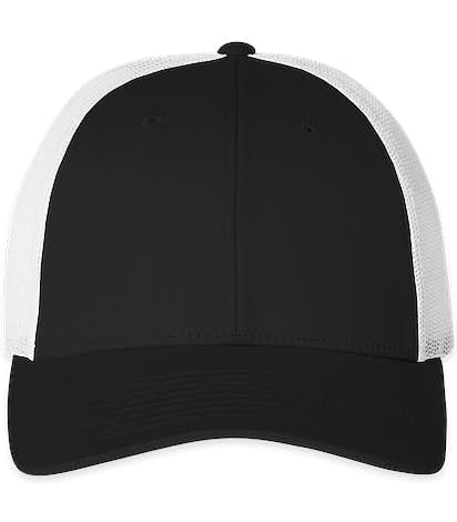 Richardson Stretch Fit Trucker Hat - Black / White