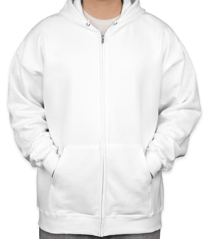 Hanes Ultimate Heavyweight Zip Hoodie - White