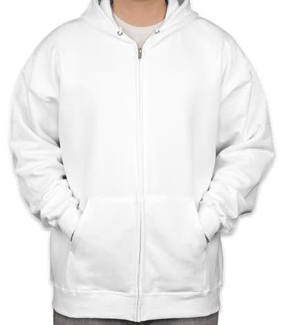 Hanes Ultimate Heavyweight Zip Hoodie - White