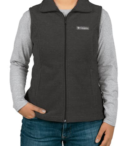 Columbia Women's Benton Springs Fleece Vest - Charcoal Heather