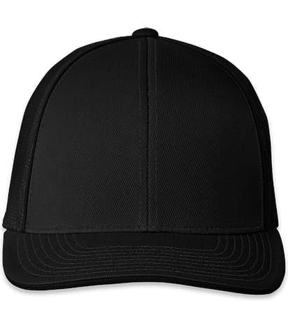 Pacific Headwear Snapback Trucker Hat - Black / Black
