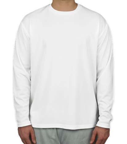 Sport-Tek Dri-Mesh Long Sleeve Performance Shirt - White