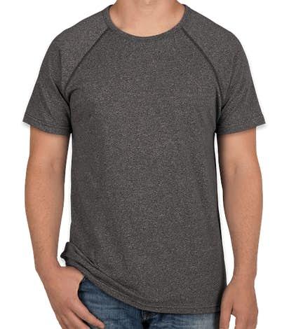 Next Level Melange Short Sleeve Raglan Performance Shirt - Black