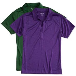 Sport-Tek Women's Heather Performance Polo - Screen Printed