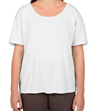 Bella + Canvas Women's Flowy T-shirt - White