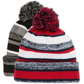 New Era Fleece Lined Pom Pom Beanie