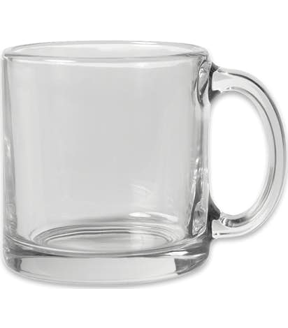 13 oz. Clear Glass Coffee Mug - Clear