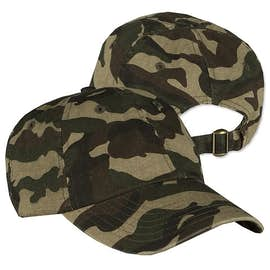 Valucap Bio-Washed Camo Hat