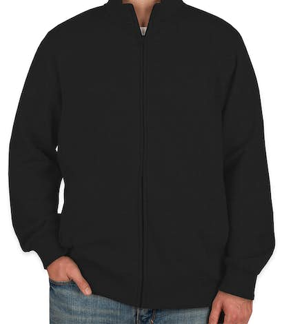 Sport-Tek Premium Full Zip Sweatshirt - Black