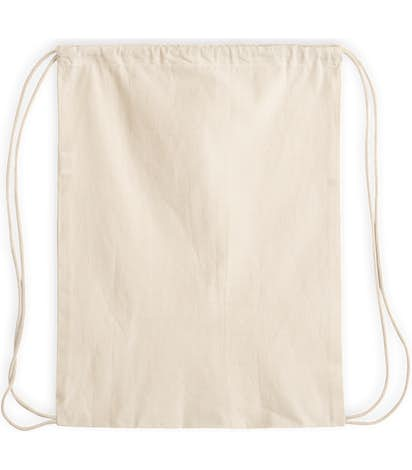 Lightweight 100 Cotton Drawstring Bag Natural
