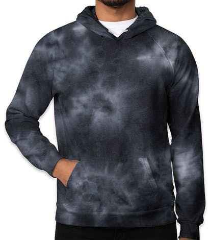 Royal Apparel USA-Made Cloud Tie-Dye Pullover Hoodie - Phantom