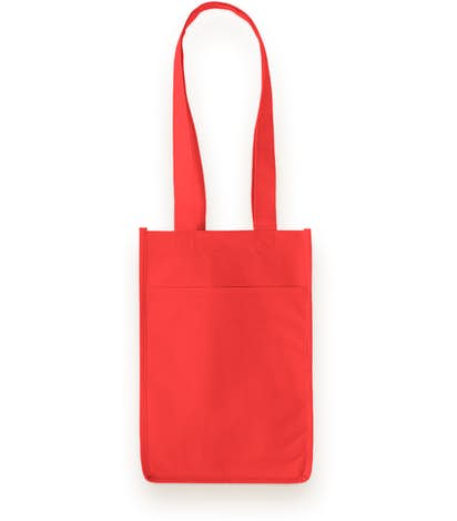 Four Bottle Non-Woven Wine Bag - Red
