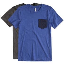 Bella + Canvas Jersey Contrast Pocket T-shirt