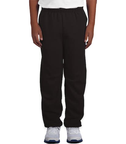 Gildan Youth Midweight 50/50 Sweatpants - Black