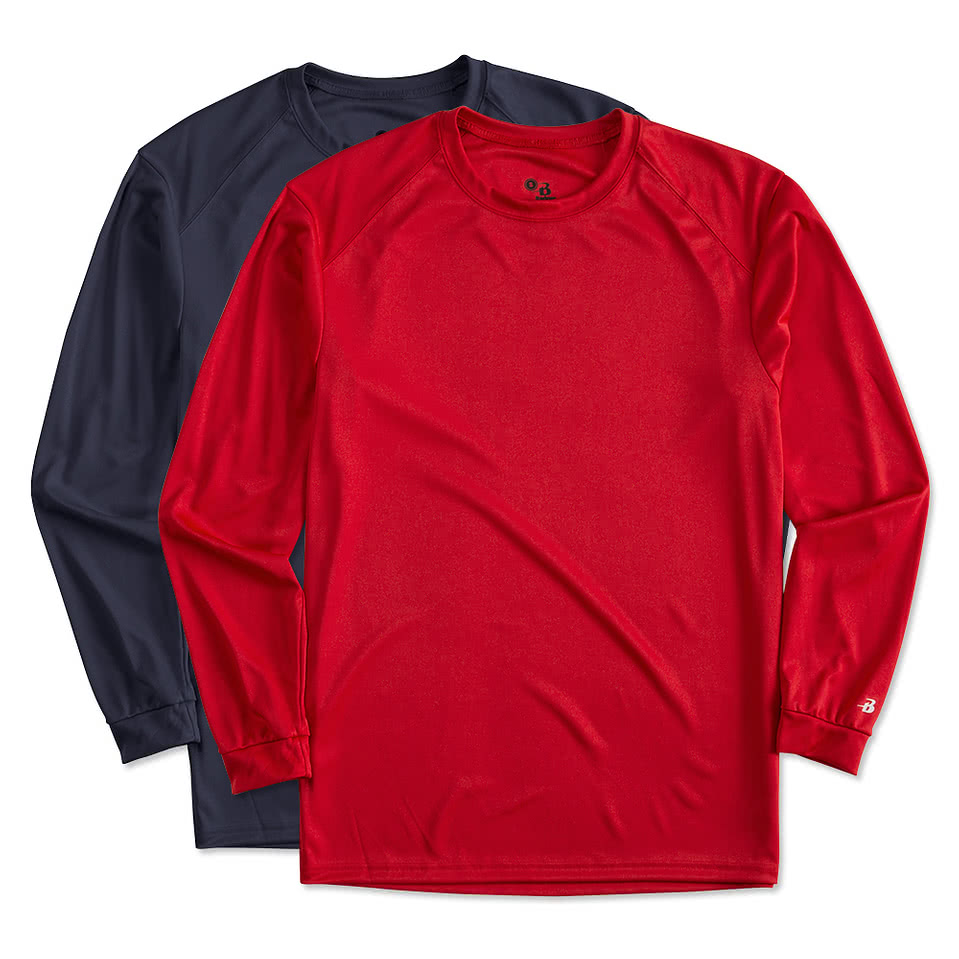 Badger Mens B-Dry Performance Stitched Solid Jersey