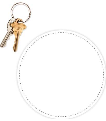 5.5 in. Circle Car Magnet - White