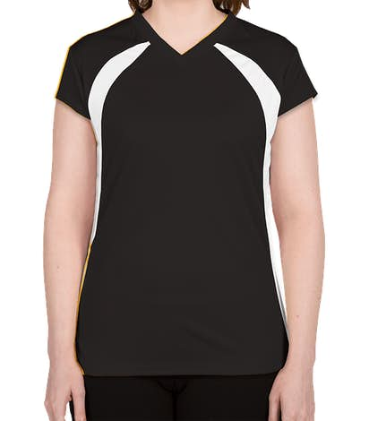 Badger Women's Colorblock Volleyball Jersey - Black / White