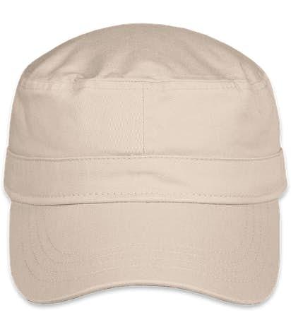 Valucap Bio-Washed Military Hat - Stone