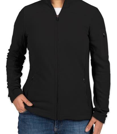 Port Authority Women's Colorblock Full Zip Microfleece Jacket - Black / Black