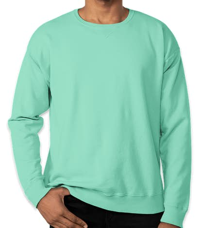 Hanes ComfortWash Garment Dyed Crewneck Sweatshirt  - Mint