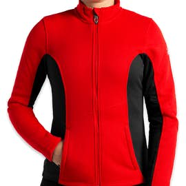 Spyder Women's Constant Sweater Fleece Jacket - Color: Red / Black / Black