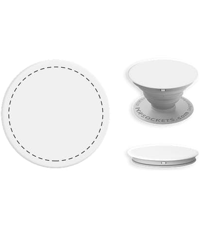 Full Color PopSocket® with Mount - White / Light Grey